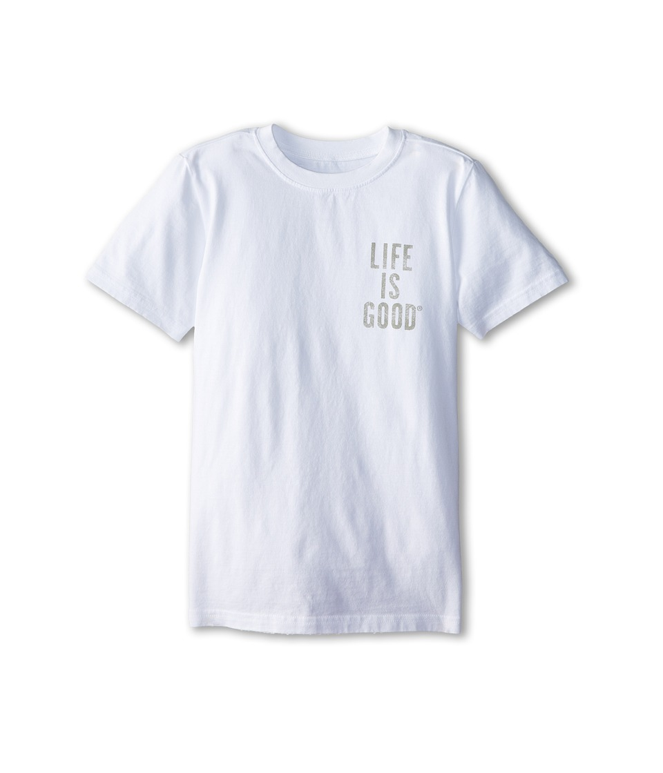 Life is good Kids - Take it Outside Easy Tee (Little Kids/Big Kids) (Cloud White) Boy's T Shirt