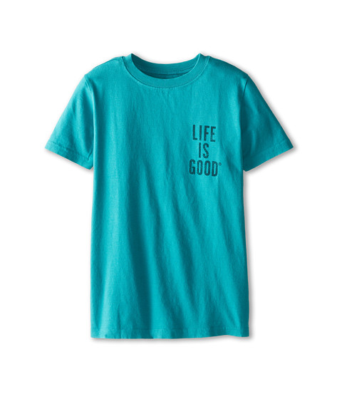 Life is good Kids - Take a Walk Bear Easy Tee (Little Kids/Big Kids) (Teal Blue) Boy's T Shirt