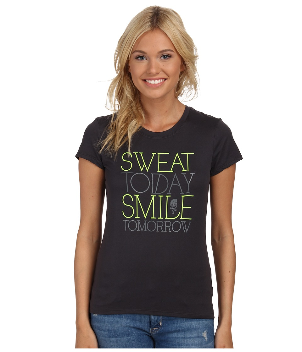 The North Face - S/S Smile Reaxion Crew (Asphalt Grey) Women's T Shirt