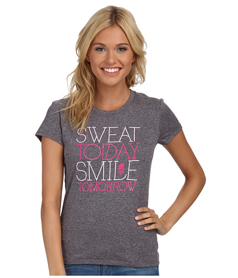 The North Face - S/S Smile Reaxion Crew (Heather Grey) Women's T Shirt