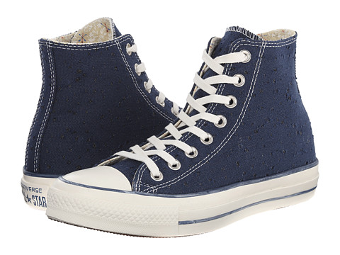 Converse - Chuck Taylor All Star Sparkle Lurex Hi (Navy) Women's Shoes