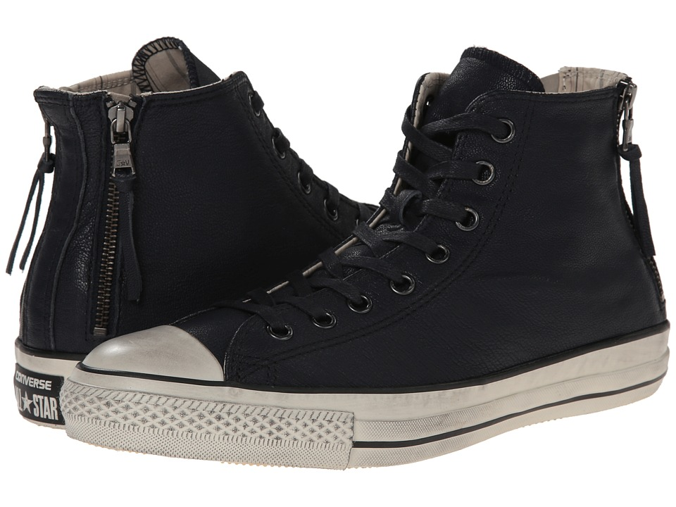Converse by John Varvatos - Chuck Taylor All Star Double Heel Zip Quito Leather (Dark Navy/Toast) Lace up casual Shoes
