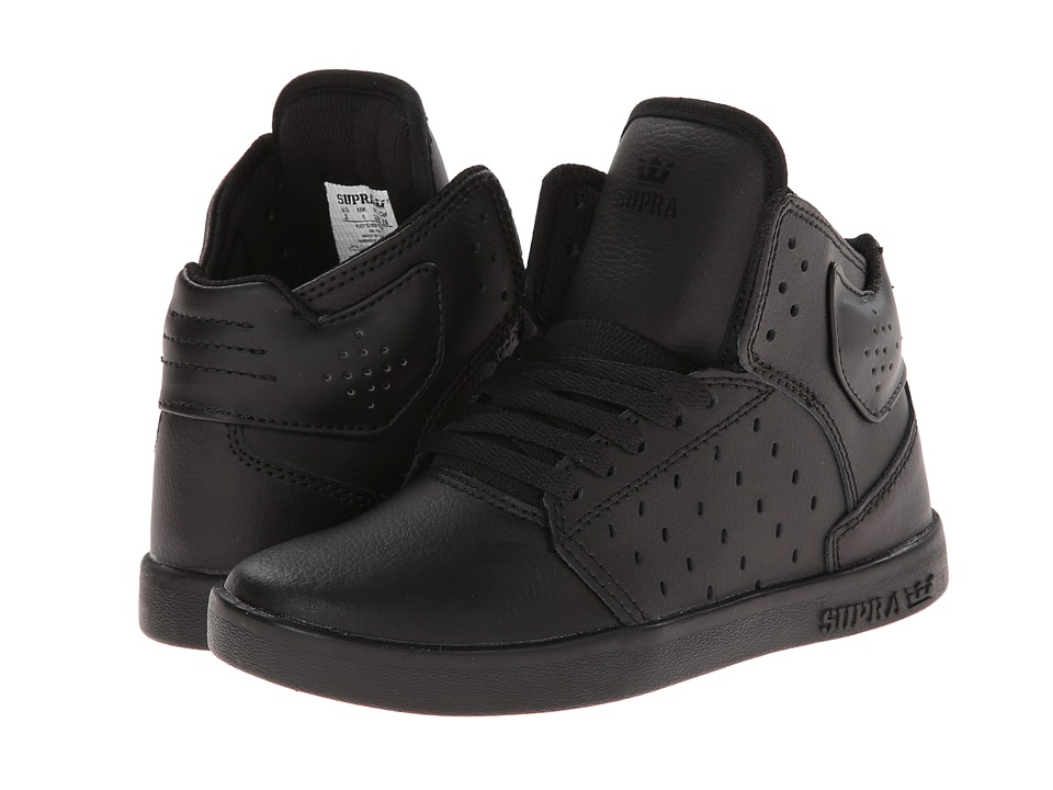Supra Kids - Atom (Little Kid/Big Kid) (Black/Red Cup Sole) Boys Shoes