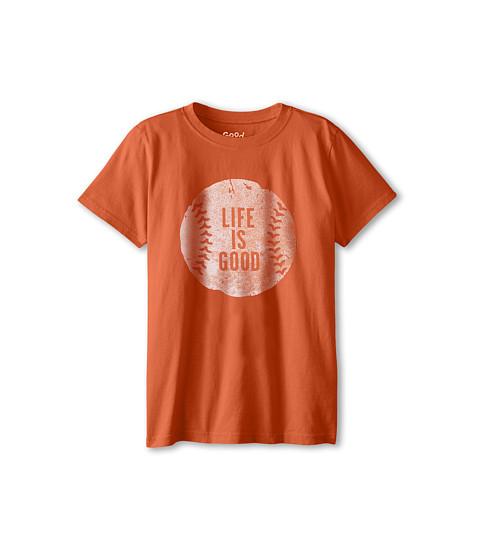 Life is good Kids - LIG Baseball Easy Tee (Little Kids/Big Kids) (Spicy Orange) Boy's T Shirt