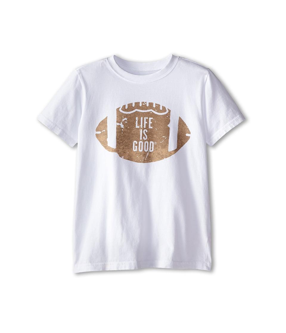 Life is good Kids - LIG Football Easy Tee (Little Kids/Big Kids) (Cloud White) Boy's Short Sleeve Pullover
