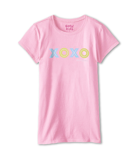 Life is good Kids - Easy Tee (Little Kids/Big Kids) (Deco Pink) Girl's T Shirt