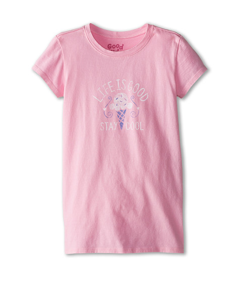Life is good Kids - Stay Cool Ice Cream Easy Tee (Little Kids/Big Kids) (Deco Pink) Girl's T Shirt