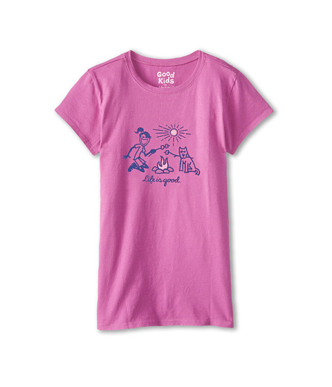 Life is good Kids - Jackie Campfire Easy Tee (Little Kids/Big Kids) (Fresh Raspberry) Girl's T Shirt