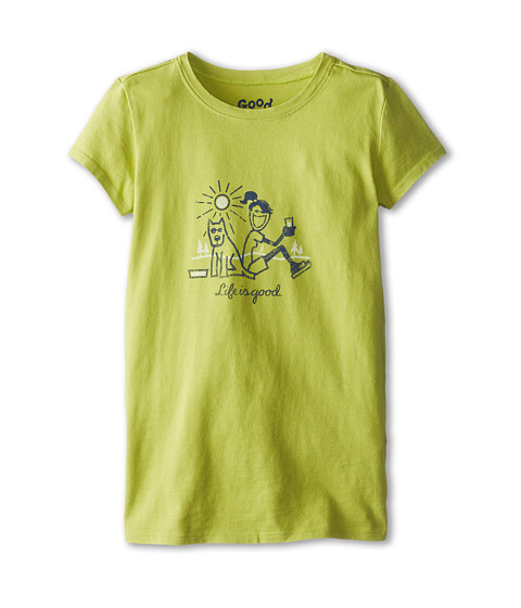 Life is good Kids - Lean on Me Easy Tee (Little Kids/Big Kids) (Chartreuse Green) Girl