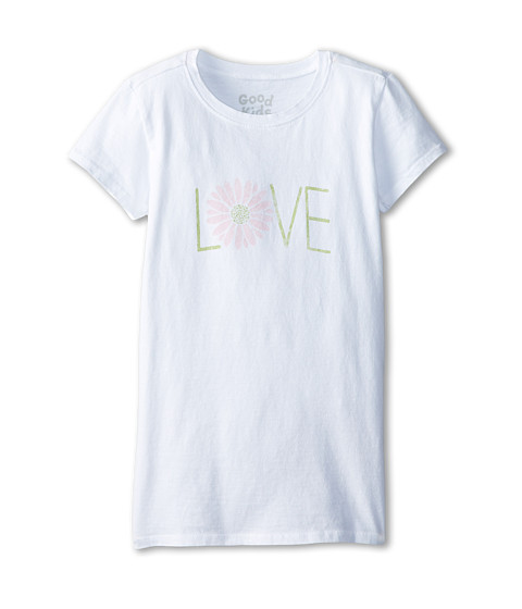 Life is good Kids - Love Daisy Easy Tee (Little Kids/Big Kids) (Cloud White) Girl's T Shirt