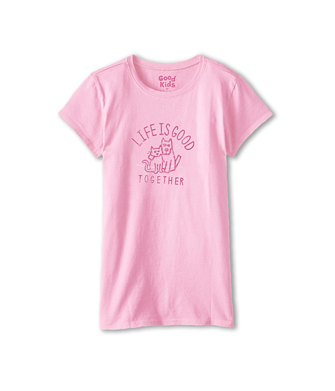 Life is good Kids - Together Easy Tee (Little Kids/Big Kids) (Deco Pink) Girl