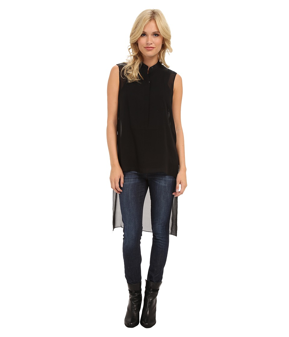 BCBGMAXAZRIA - Priscilla Asymmetrical Hem Top (Black) Women's Clothing