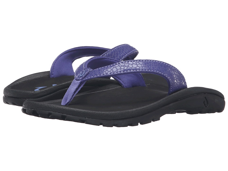 OluKai Kids - Kulapa Kai (Toddler/Little Kid/Big Kid) (Deep Violet/Black) Girls Shoes