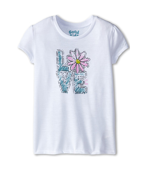 Life is good Kids - Daisy Love Sleep Tee (Little Kids/Big Kids) (Cloud White) Girl