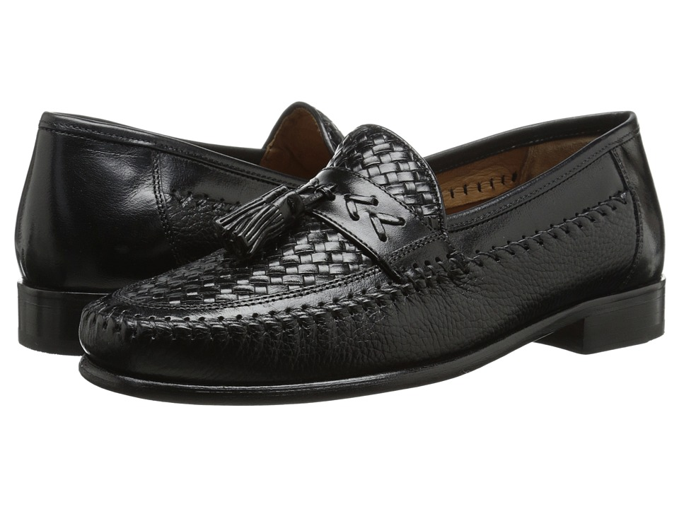 Florsheim - Swivel Weave (Black) Men's Slip-on Dress Shoes