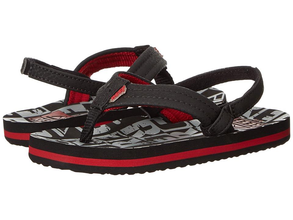 Reef Kids Ahi (Infant/Toddler/Little Kid/Big Kid) (Black/Grey Reef) Boys Shoes