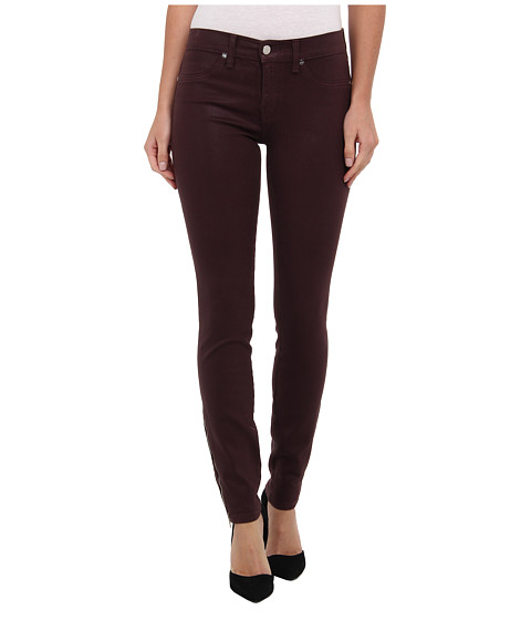 Henry & Belle - Coated Super Skinny w/ Zipper in Cordovan (Cordovan) Women's Jeans