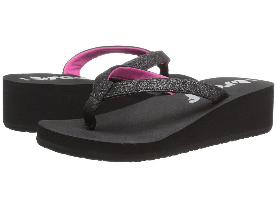 Reef Kids - Little Krystal Star (Toddler/Little Kid/Big Kid) (Black/Berry) Girls Shoes