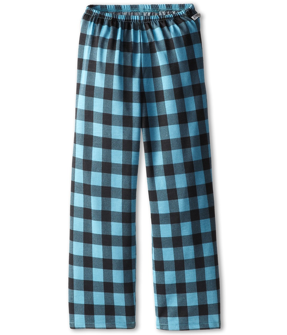 Life is good Kids - Plaid Sleep Pant (Little Kids/Big Kids) (Dusty Blue) Girl's Pajama