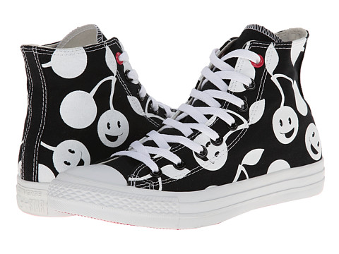 Converse - Chuck Taylor All Star Cherry Print Hi (Black/White) Women