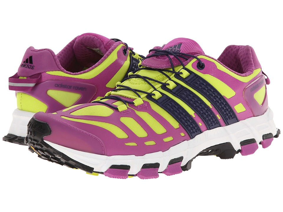Image of adidas Outdoor - Adistar Raven 3 (Semi Solar Yellow/Night Sky/Lucky Pink) Women's Shoes