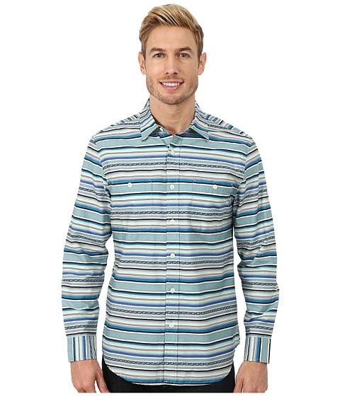 Pendleton - L/S Serape Shirt (Blue Multi Stripe) Men