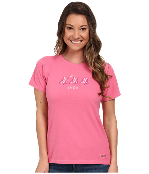 Life is good - We Time Sling Backs Crusher Tee (Hot Pink) Women's T Shirt