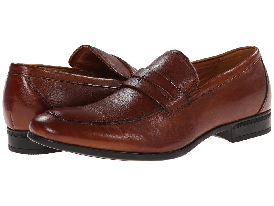 Florsheim - Burbank Penny Moc (Cognac) Men's Slip-on Dress Shoes