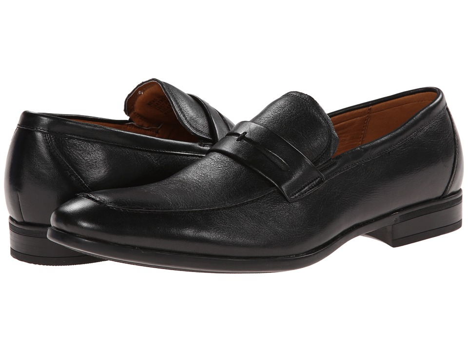 Florsheim - Burbank Penny Moc (Black) Men's Slip-on Dress Shoes