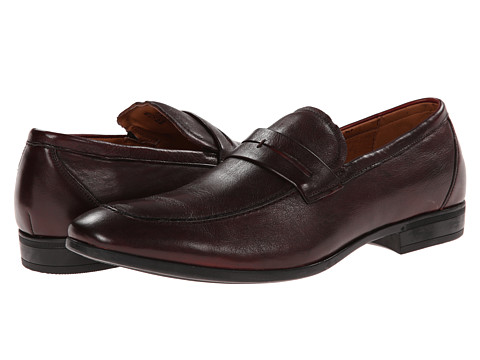 Florsheim - Burbank Penny Moc (Burgundy) Men's Slip-on Dress Shoes