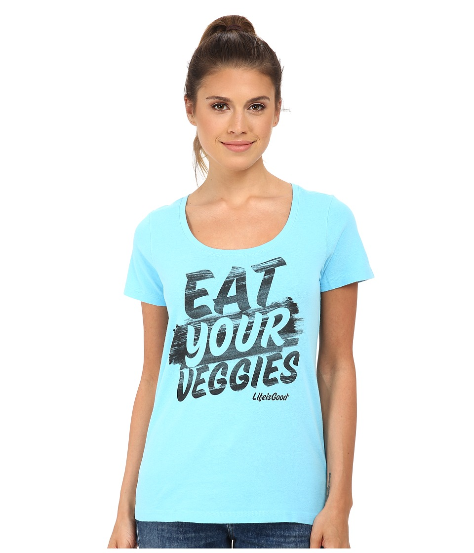 Life is good - Creamy Scoop Tee (Pool Blue) Women's T Shirt