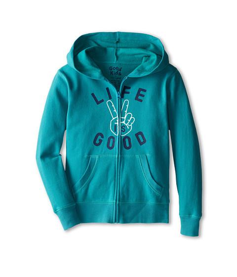 Life is good Kids - LIG Peace Hangout Hoodie (Little Kids/Big Kids) (Teal Blue) Boy's Sweatshirt
