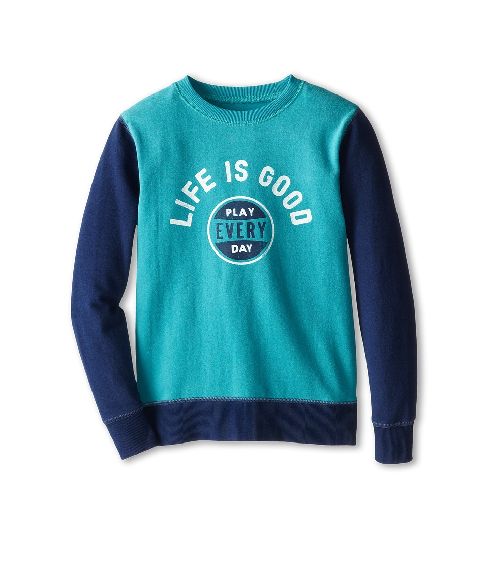 Life is good Kids - Play Hangout Pullover (Little Kids/Big Kids) (Teal Blue) Boy's Sweatshirt