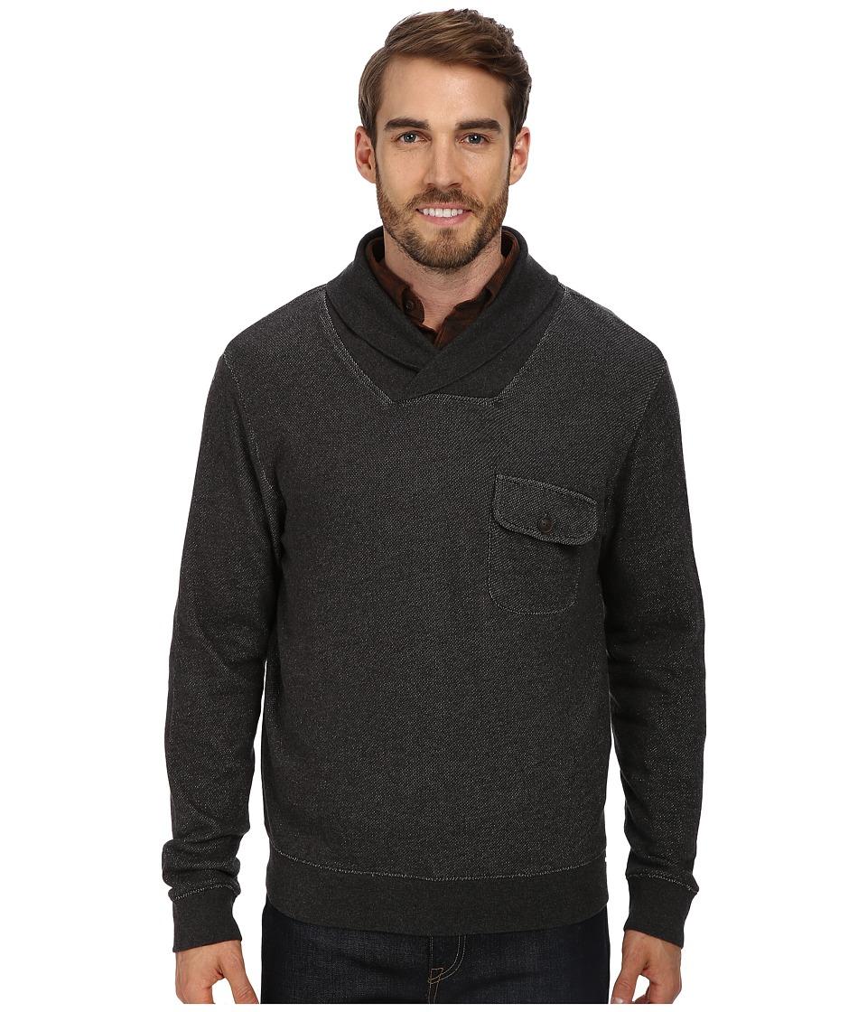 Pendleton - L/S Shawl Collar Board Pullover (Black Heather) Men's Long Sleeve Pullover