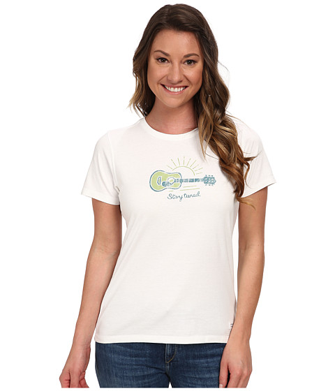Life is good - Stay Tuned Guitar Crusher Tee (Cloud White) Women's T Shirt