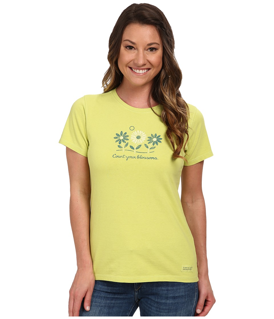 Life is good - Three Blossoms Crusher Tee (Chartreuse Green) Women