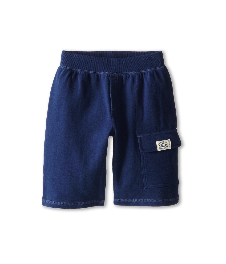 Life is good Kids - Fleece Cargo Shorts (Little Kids/Big Kids) (Darkest Blue) Boy's Shorts