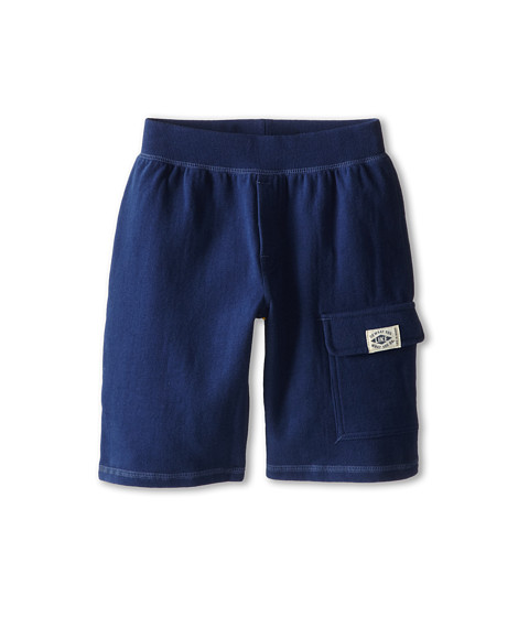 Life is good Kids - Fleece Cargo Shorts (Little Kids/Big Kids) (Darkest Blue) Boy's Shorts