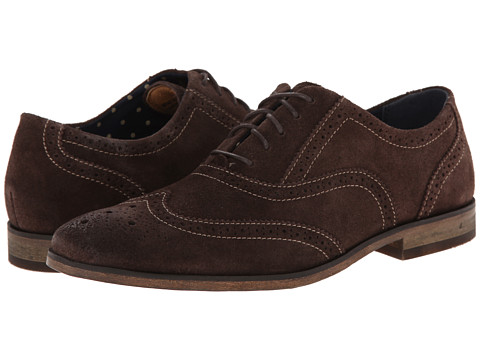 Florsheim - Jet Wing Ox (Brown Suede) Men's Lace Up Wing Tip Shoes