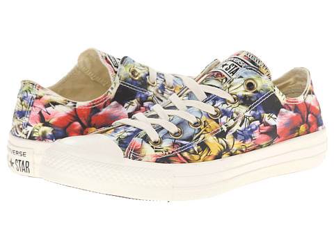 Converse - Chuck Taylor All Star Floral Print Ox (Egret/Multi) Women's Classic Shoes