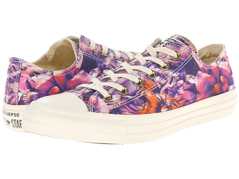 Converse - Chuck Taylor All Star Floral Print Ox (Periwinkle/Multi) Women's Classic Shoes