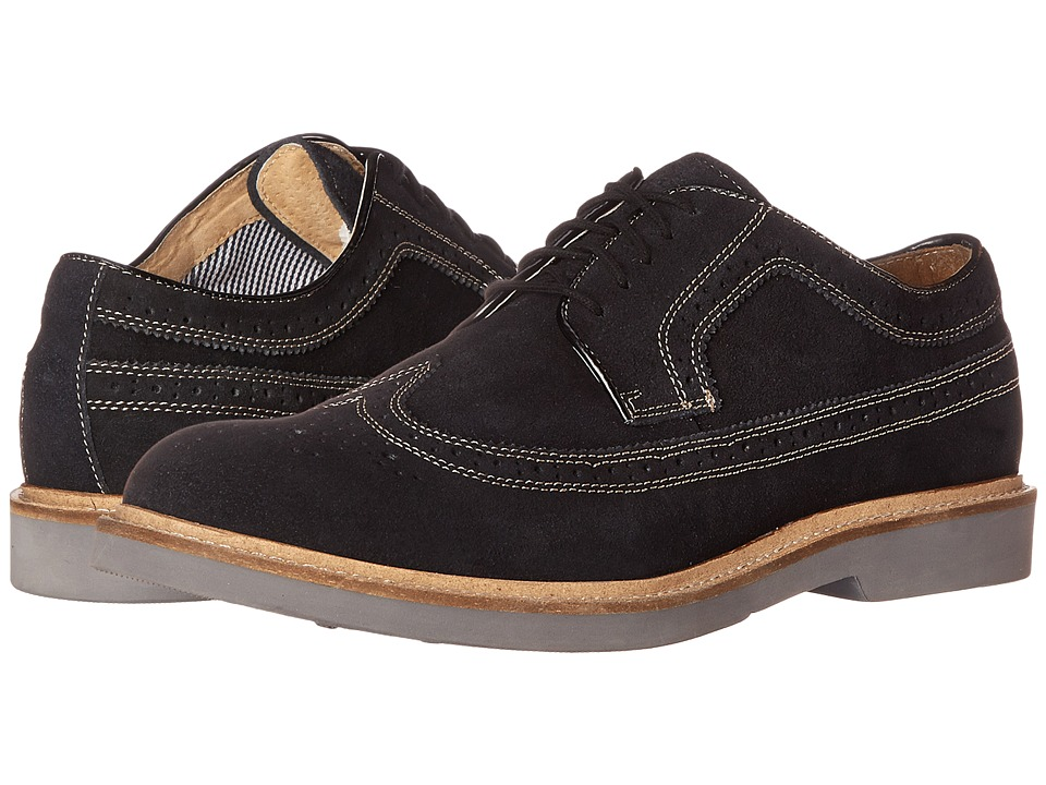 Florsheim - Bucktown Wing Ox (Black Suede) Men's Lace Up Wing Tip Shoes