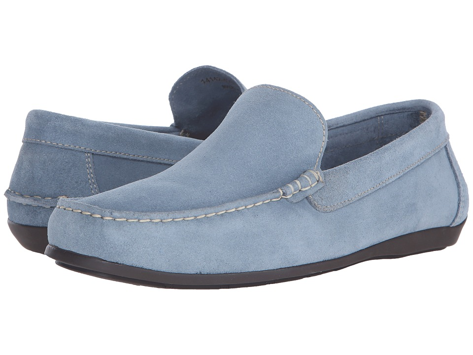 Florsheim - Jasper Venetian Slip-On (Chalk Blue Suede) Men's Slip on Shoes