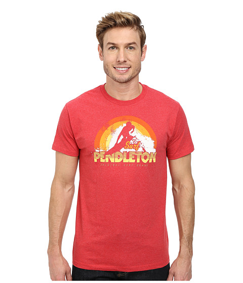 Pendleton - Surf Graphic Tee (Red Heather) Men's T Shirt