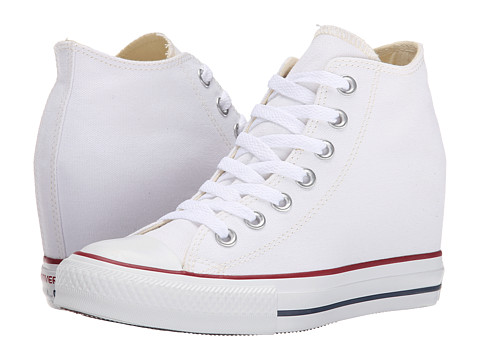Converse - Chuck Taylor All Star Lux Mid (White) Women's Shoes