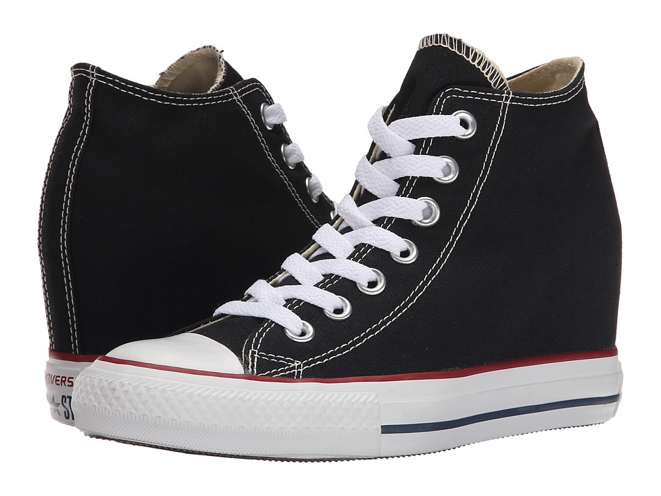Converse - Chuck Taylor All Star Lux Mid (Black) Women's Shoes