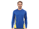 Reebok Workout Ready Long Sleeve Top (Trust Blue/Neon Orange) Men's Long Sleeve Pullover