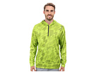 Reebok Workout Ready Over The Head Embossed Top (Sonic Green/Filigreen) Men's Long Sleeve Pullover