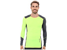 Reebok Delta Series Training Long Sleeve Compression Top (Neor Orange/Graphite) Men's Long Sleeve Pullover