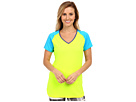 Reebok Delta Series Training Short Sleeve Tee (Neon Yellow) Women's Short Sleeve Pullover